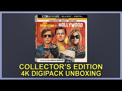 Once Upon A Time In Hollywood Collector's Edition 4K+2D Blu-ray Digipack Unboxing