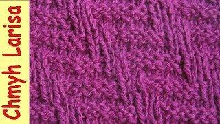 ▶️ Узор спицами для мужского шарфа