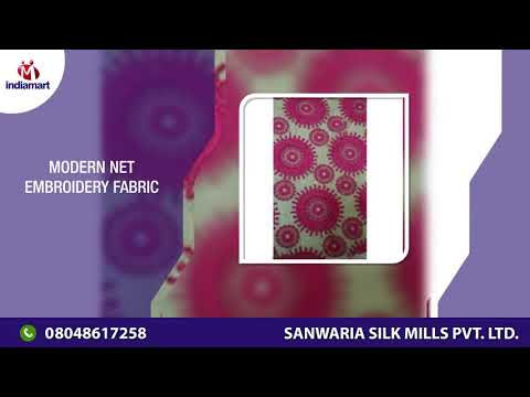 Manufacturer of Net Embroidery Fabric