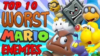 One of TheLonelyGoomba's most viewed videos: Top 10 Worst Mario Enemies!
