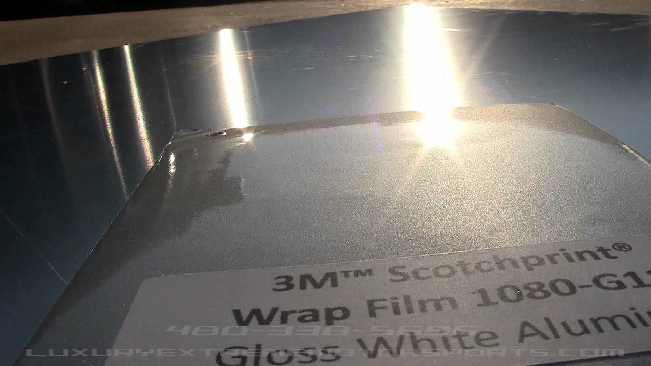 Gloss White Aluminum Vinyl 3m Youtube