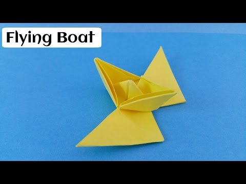 """How to make an easy and simple Paper """" Flying Boat"""" - Origami"""