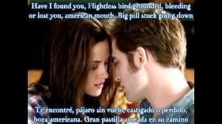 Iron & Wine -Flightless bird. American Mouth -Lyrics in English & Español -Twilight & Amanecer ♥