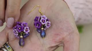 How To Make Polymer Clay  Topiary Earrings, Jewelry Tutorial