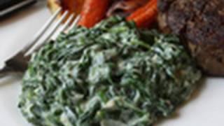 Creamed Spinach Recipe - Steakhouse Creamed Spinach thumbnail