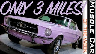 LOWEST MILEAGE 1967 Ford Mustang! Muscle Car Of The Week Episode 290 V8TV