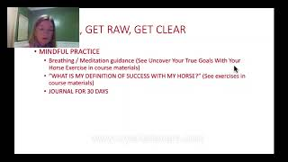 Clear Goals With Your Horse