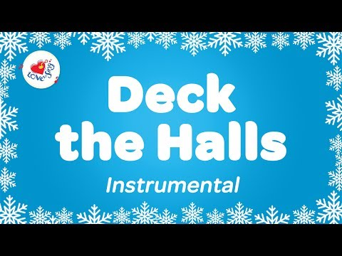 Deck the Halls Karaoke  Instrumental Christmas Song Deck the Hall with Sing Along Words