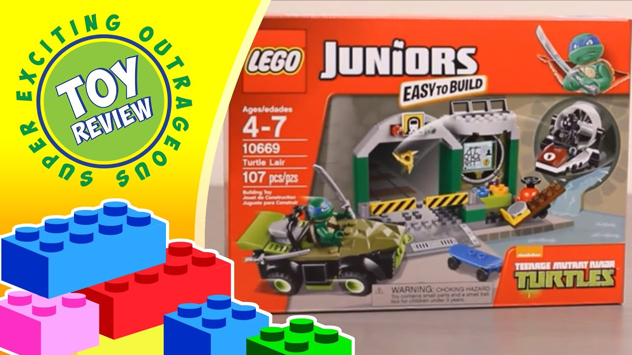 LEGO Juniors 10669 Turtle Lair Sewer Playset Teenage ...