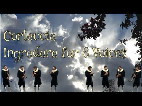 Francesco Corteccia (1502-1571) - Ingredere for 2 Choirs - Crumhorn Krummhorn Cromorno