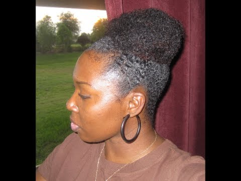 4b 4c Hair Quick And Easy Bun For Short Or Tightly