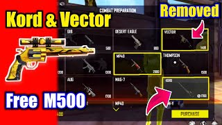 Claim Free Golden M500🤯🔥Clash Squad Season 6 Vector Removed & Kord Added😵!!