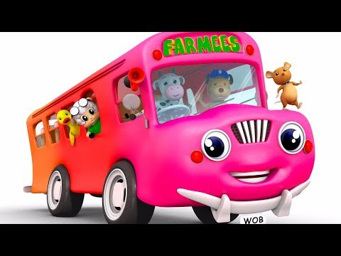 Wheels On The Bus Go Round And Round | Songs For Children by Farmees S02E205