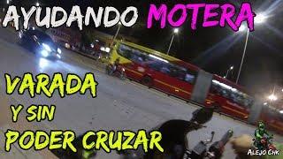 Ayudando Motera varada y sin poder cruzar la autopista - Me prestan una Ninja 250 Alejo Chk thumbnail