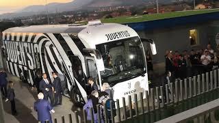 Arrivo Juve allo stadio del Frosinone