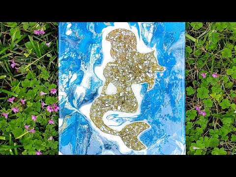 (36) Sitting Ariel Part 2|Resin|Glitter|Crushed Glass