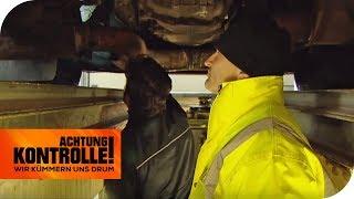 LKW Kontrolle: Seitenlage und schiefen Reifen - beim TÜV! TEIL 2 | Achtung Kontrolle | kabel eins