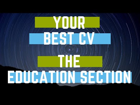 your cv writing the education qualifications section with