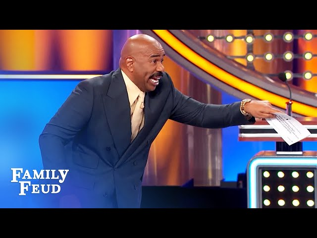 Craziest huddle ever?! | Family Feud