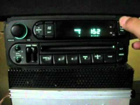 Estereo Chrysler Dodge Jeep 2000 Al 2005 Youtube