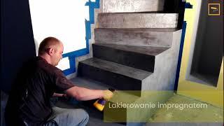 Mikrocement beton cire na schodach zabiegowych - aplikacja krok po kroku.