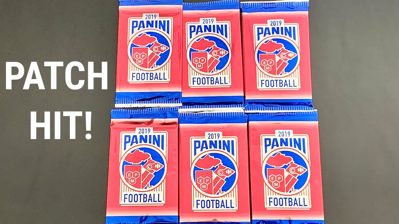 Download Opening 6 Panini Day Promo Packs! Patch Hit! 2019 Exclusive Playoff Football Free Packs!