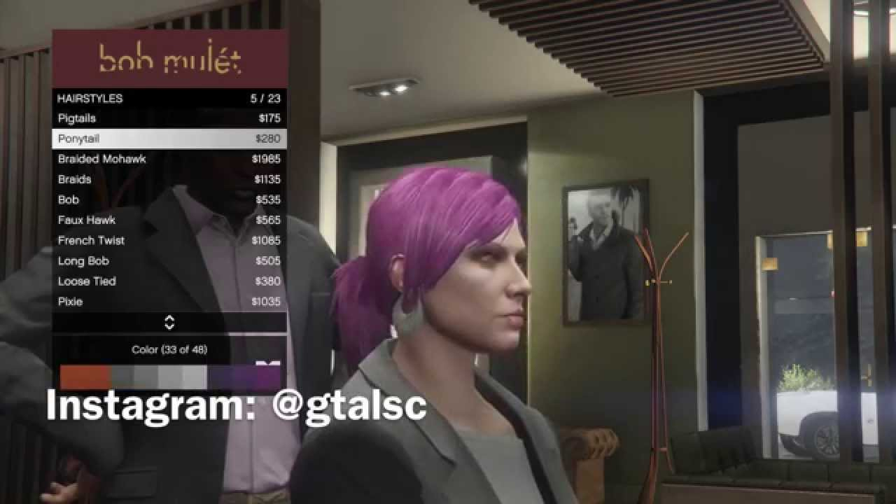 Color change online - Next Gen Gta 5 Ps4 New First Person Driving Change Your Character S Hair Colour Youtube