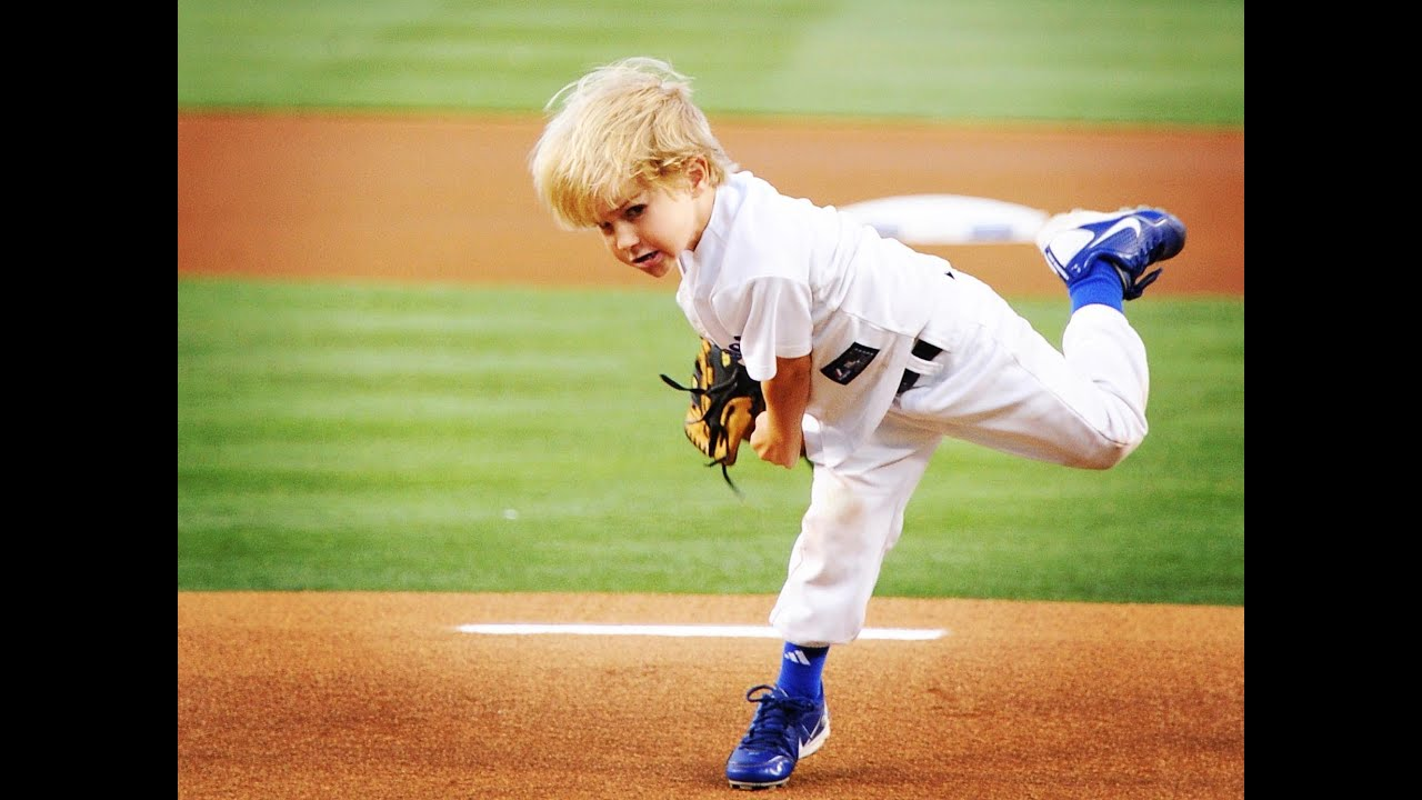 a5bd2ea04 5 year-old baseball kid Christian Haupt 2014 MLB All-Star Game commercial    best first pitches
