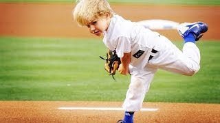 5 year-old baseball kid Christian Haupt 2014 MLB All-Star Game commercial & best first pitches