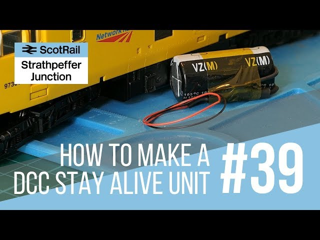 #39 Part 1: How to make a Stay Alive Capacitor Unit (Hornby TTS Sound Decoder and Others)