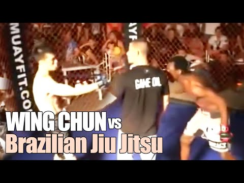 Wing Chun vs BJJ Brazilian Jiu jitsu - MMA Fight