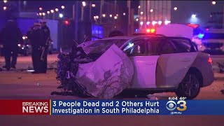 3 Dead, 2 Hurt In Head-On Crash After Driver Stabbed 10 Times In South Philadelphia