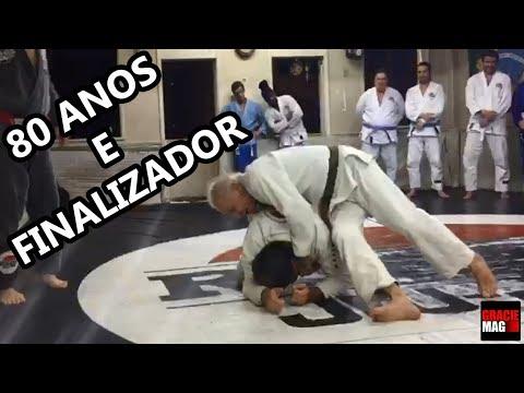 Aos 80 anos, Elmar França comemora aniversário treinando Jiu-Jitsu