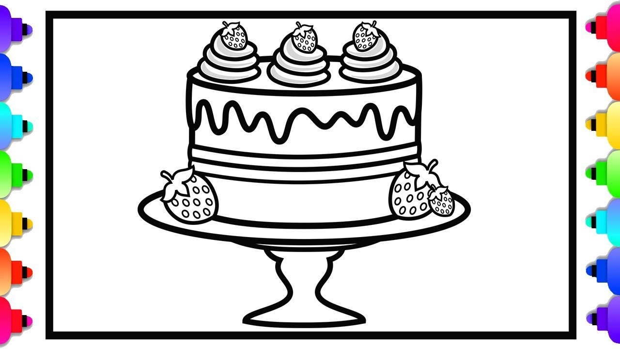 Printable Color Birthday Cake Free Sheets Coloring Page