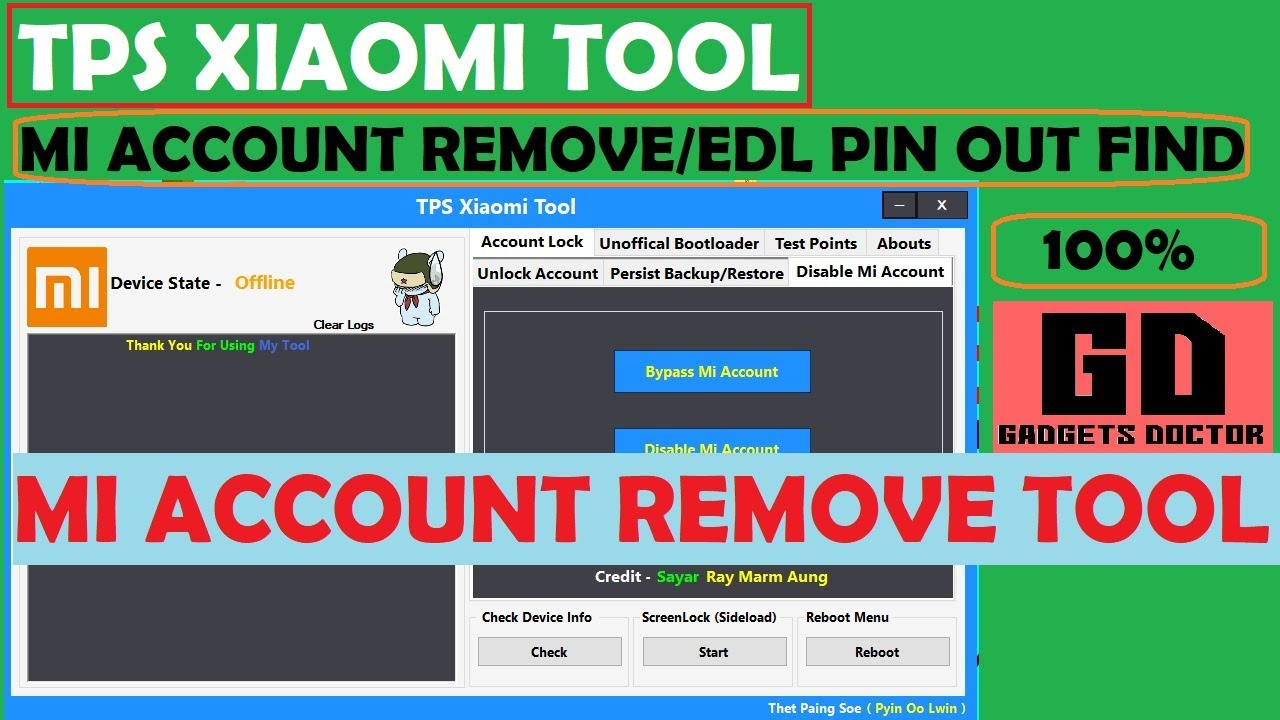 TPS Xiaomi Tool | Remove Any Mi Account without Box 2018
