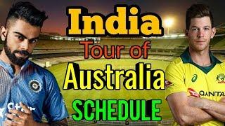 India tour of Australia 2018 full Schedule!