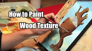How To Paint Wood Texture | Imps And Monster | Justin Hillgrove