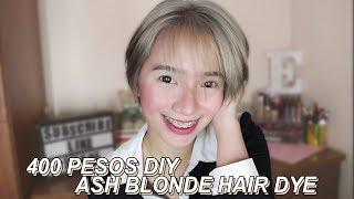 400 PESOS DIY ASH BLONDE HAIR DYE | 50 PESOS HAIR BLEACH! | Philippines | Erika Lim