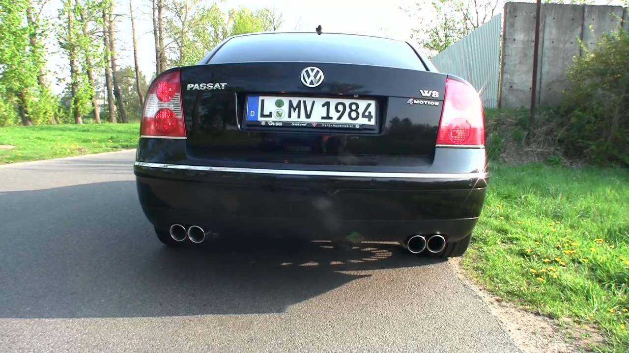 VW Pat W8 - Tuning + Sound - YouTube