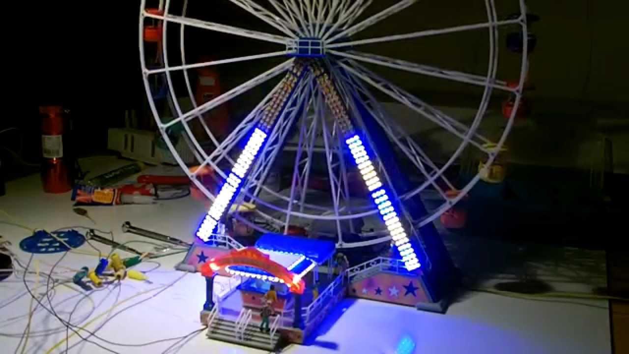 Faller Riesenrad Mit Beleuchtung Youtube