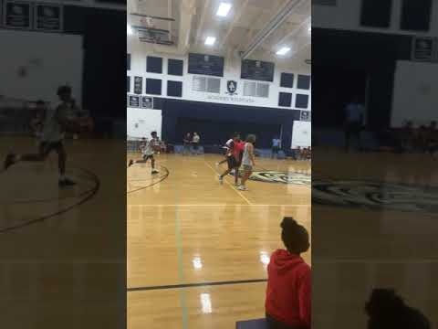 Day Jones red #4 playing for Brandon Academy Summer League Game #2