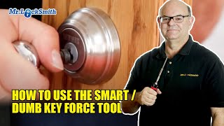 How to use the Smart / Dumb Key Force Tool   Mr. Locksmith Video