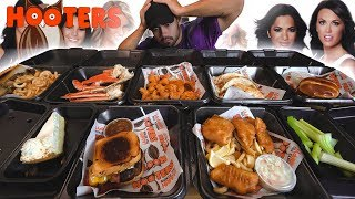 $100 Worth of Hooters Challenge | 10,000 Calories!