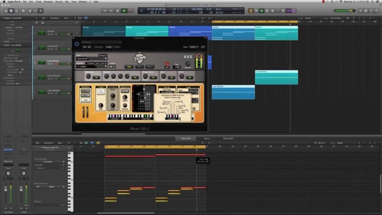 Strum GS-2 MIDI loops advanced techniques