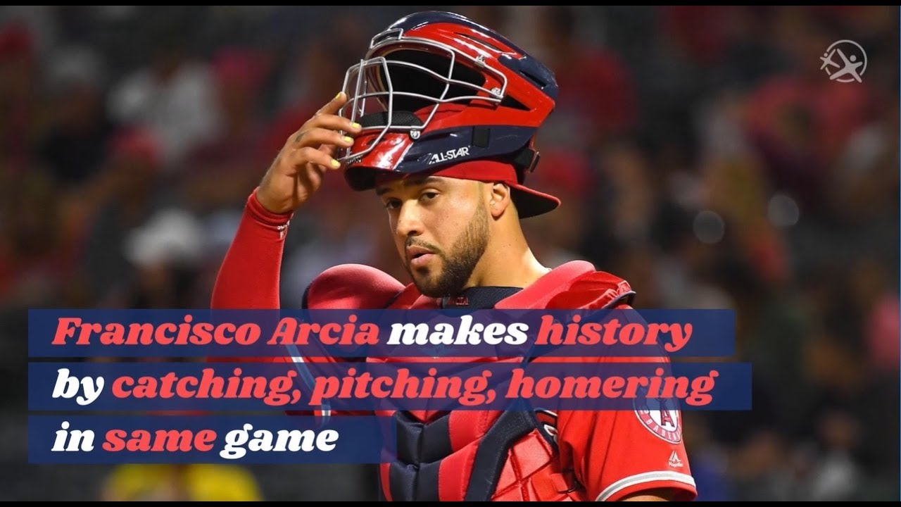 Francisco Arcia makes history by catching, pitching, homering in same game
