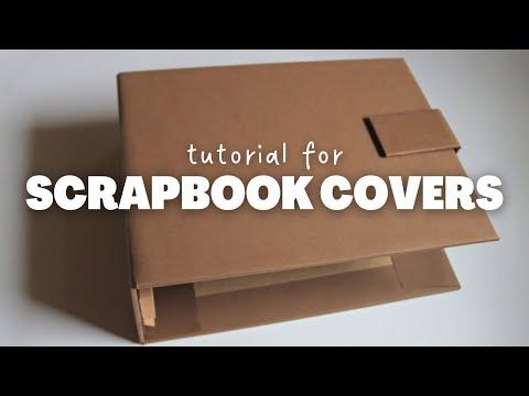 COVER AND SPINE FOR SCRAPBOOK ALBUM | DIY PHOTO ALBUM
