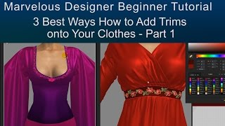 Part 1 - How to Add Trims to Marvelous Designer Clothes - Texturing Tutorial for Beginners