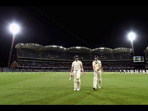 First Day Night Test Match With Pink Ball Youtube