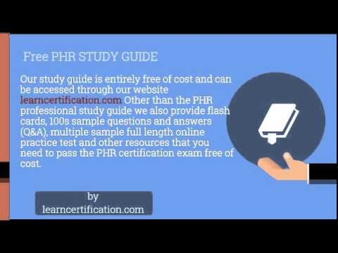 phr study guide -