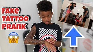 Tattoo Prank On My Mom *SHE GOT MAD* 😱